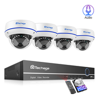 Techage 4CH 1080P Sécurité À Domicile 2TB HDD NVR 4 pièces POE CCTV Caméra Système 2MP Audio Extérieur IR Vision Nocturne Kit de Surveillance