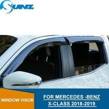 Car door visor For MERCEDES -BENZ X-CLASS 2018-2019 Window rain protector  2018 2019 car styling SUNZ