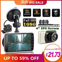 2019 New 4 Inch IPS Full HD 1080P Car Driving Recorder Dashcam Car DVR Driving Recorder 170 Degree Wide Angle Lens Car Dash Cam