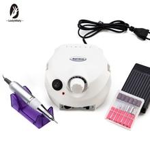 Máquina pulidora eléctrica para uñas, 202 RPM, con cortadores para manicura y pedicura, aparato de perforación, 35000