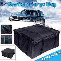 96X96X46cm Car Roof Rack Bag Roof Top Bag Rack Cargo Carrier Luggage Storage Travel Waterproof SUV Van for Cars