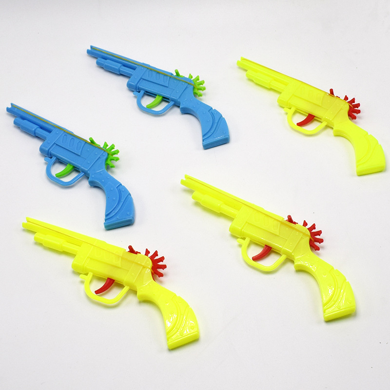 5pcs/set Bullet Rubber Band Launcher Plastic Gun Hand Pistol Guns Shooting Toy Gifts Boys Outdoor Fun Sports For Kids