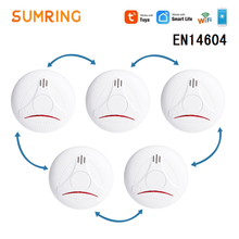 Wifi Smoke Detector Wireless APP Control Smart wifi Interconnected Alarm For Home