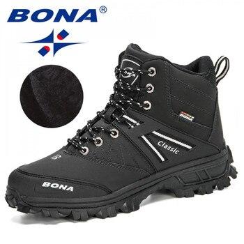 BONA 2020 New Arrival Hiking Shoes Men Outdoor Trekking Trainers Sports Sneakers Man Mountain Climbing Footwear Masculino - discount item  34% OFF Sneakers