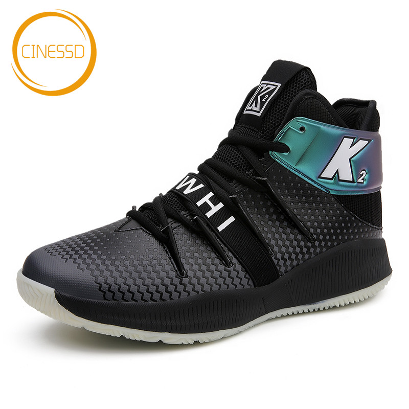 CINESSD New Arrival Basketball Shoes Outdoor Durable Training Jordan Shoes High-Top Sneakers Men Lace-Up Ankle Boots Sport Shoes