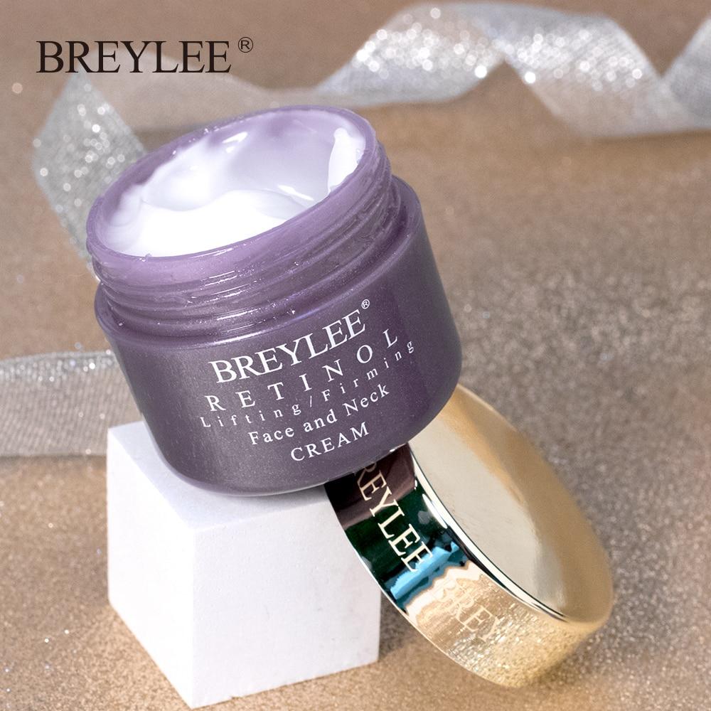Купить с кэшбэком BREYLEE Retinol Firming Face Cream Lifting Neck Anti-Aging Remove Wrinkles Night Day Cream Moisturizing Facial Mask Skin Care