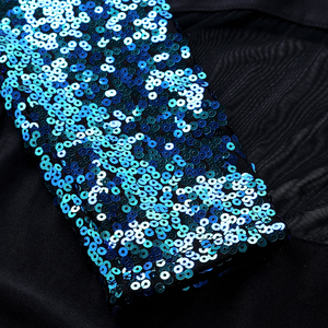 Image 5 - נשים מבריק פאייטים ארוך שרוולים רשת אחוי בלט התעמלות בגד גוף בלרינה רווה שלב ביצועים לירי ריקוד תלבושות