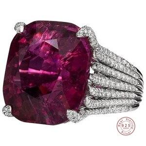 Классическое роскошное серебряное кольцо, 3 карат, ААА +, свадебное ювелирное изделие с фианитом, обручальные кольца для женщин, рождественс...
