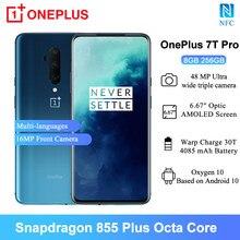 Oneplus 7T Pro Mobiele Telefoons 6.67 Inch Snapdragon 855 Plus Octa-Core 16MP Front Camera 8Gb Ram 256gb Rom 4085Mah Smartphone