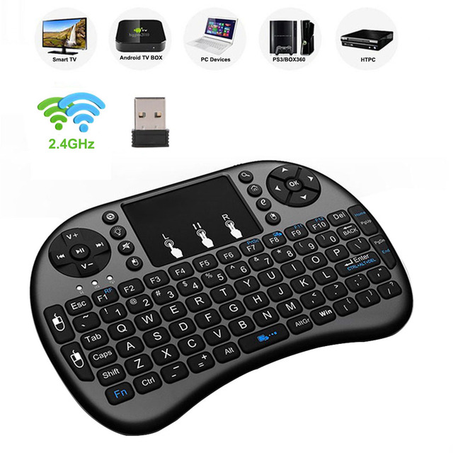 Wechip i8 Russian English Version 2.4GHz Wireless Keyboard Air Mouse With Touchpad Handheld Work With Android TV BOX Mini PC 18 3