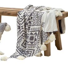 Lawrence New Style Cotton Tassled Knitted Blanket Soft Home Decoration Throw