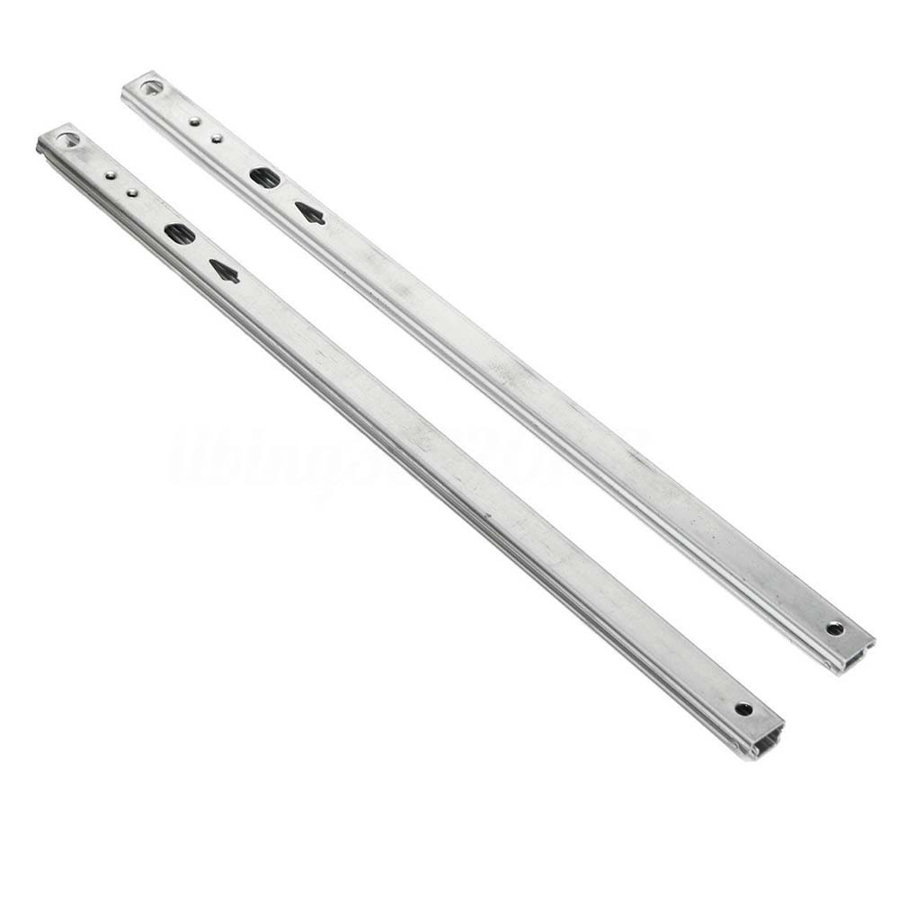 Micro Drawer Slide Ball Guide Two Sections 17mm Wide Steel Fold Drawer Steel Ball Rail Slide Furniture Hardware Fittings
