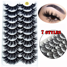 5/8/10 Pairs 3D Mink Hair False Lashes Thick Wispies Natural Mink Eyelashes Extension Messy Handmade Cruelty free Eyelash