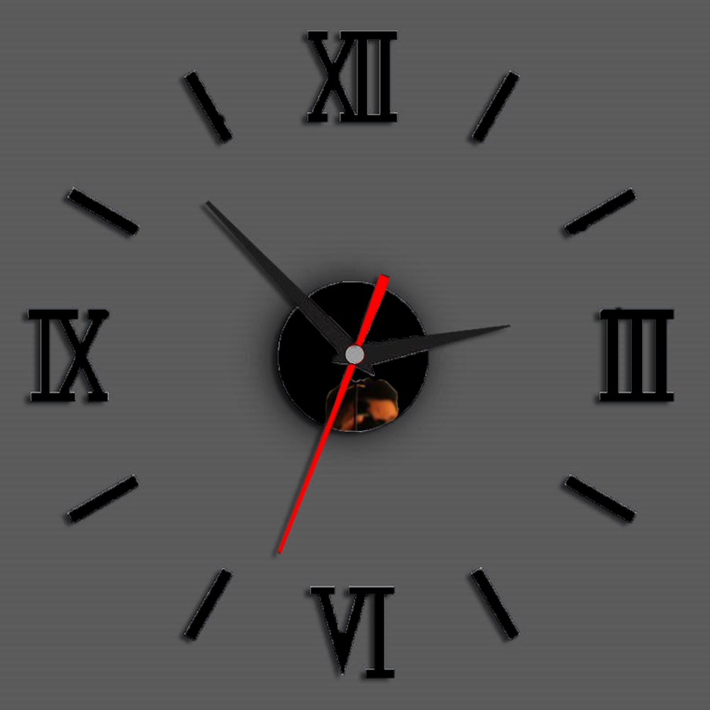 Permalink to Decoration Mirror Office For Home DIY Quartz Fashion Removable Living Room Wall Clock Roman Numerals Modern 3D Stickers Art