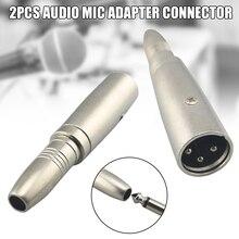 2 шт 6,5 мм мама до 6,35 мм штекер аудиосигнала Mic адаптер Разъем аксессуары DQ-Drop