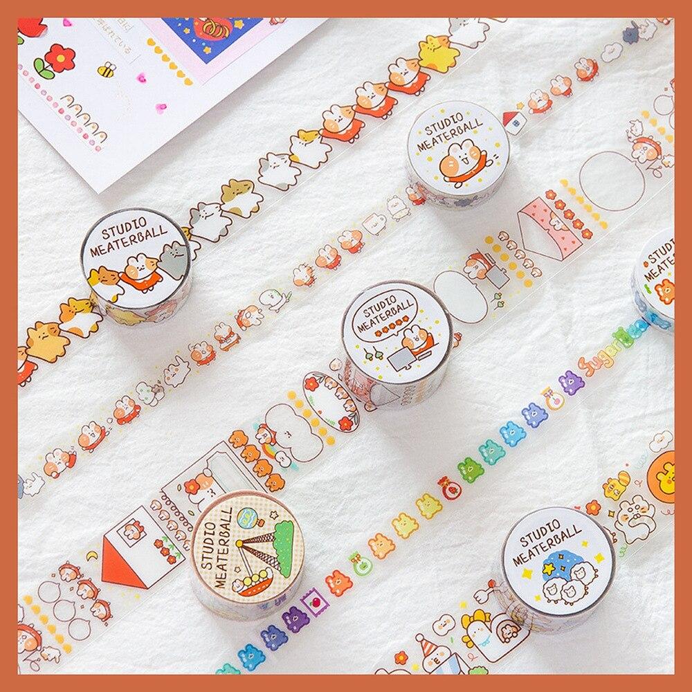 1set/1lot Washi Masking Tapes Cute Cat Decorative Adhesive Scrapbooking DIY Paper Japanese Stickers 2m