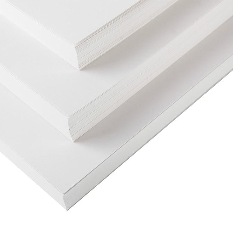 Papier Kraft blanc 120-400gsm blanc bricolage papier de carte postale papier d'artisanat A4/A3/4 K/8 K épais carton peint à la main