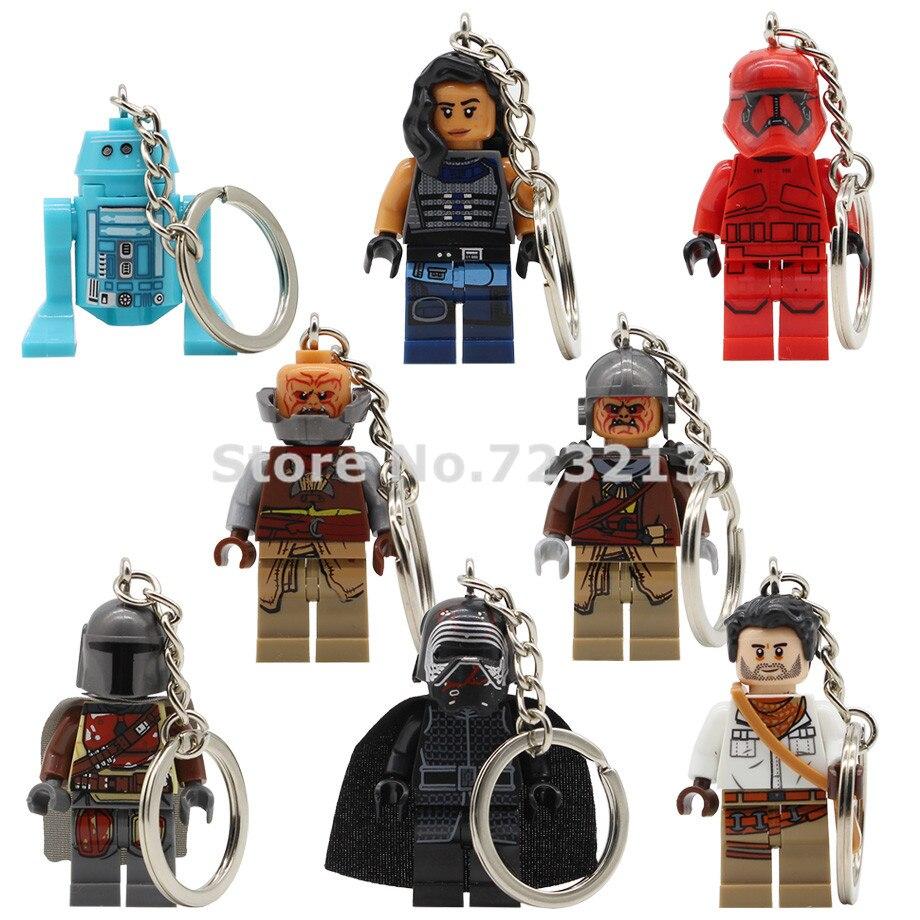 Star Wars Keychain Figure R2D2 Pon Dameron Kylo Ren Kara Dunn The Man Rhoda Sith Stormer Raider Building Blocks Bricks Toys