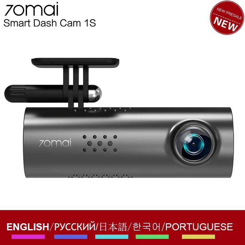 Original Xiaomi 70mai voiture DVR Dash Cam 1S 1080P Full HD Vision nocturne commande vocale enregistreur de conduite enregistrement vidéo caméra de tableau de bord
