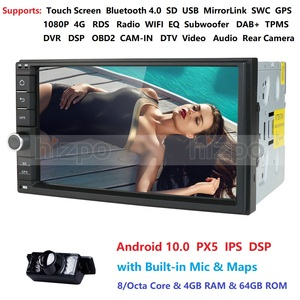 2 Din 7'' Octa core Universal Android 10.0 4GB RAM Car Radio Stereo GPS Navigation WiFi 1024*600 Touch Screen 2din NO DVD DSP BT