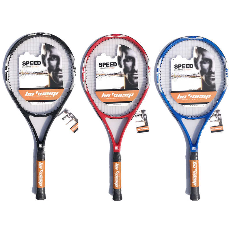 Aluminum Alloy Carbon Tennis Racket Carbon Fiber Men and Women Racquets With Squash String Bag Speed Sports Training Raquet
