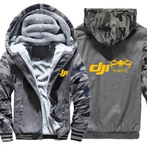 Image 5 - Dji veste à capuche en molleton dhiver, manches Camouflage, fermeture éclair, Mavic Pilot