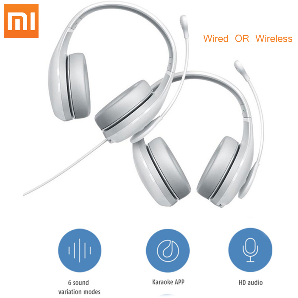 Xiaomi mijia Bluetooth Wireless Earphone Karaoke Microphone Wired Headphones High Sensitivity Voice change Headsets For K Song image