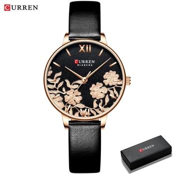 CURREN Women Watches Top Brand Luxury Stainless Steel Strap Wristwatch for Women Rose Clock Stylish Quartz Ladies Watch 7
