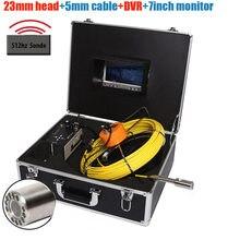 50m 512hz sonda transmissor dvr impermeável tubulação de esgoto parede industrial carro inspeção vídeo endoscópio câmera com contador