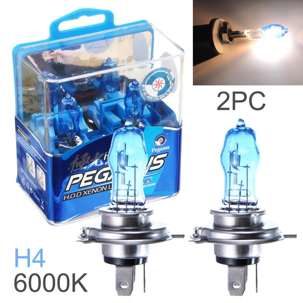 2pcs/lot H4 100W White Light Super Bright Car HOD Xenon Halogen Lamp Auto Front Headlight Head Light Bulb