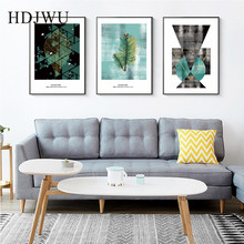 Simple Nordic Abstract Geometry Canvas Wall Painting Picture Home Wall Art Printing Posters Picture for Living Room Decor DJ682