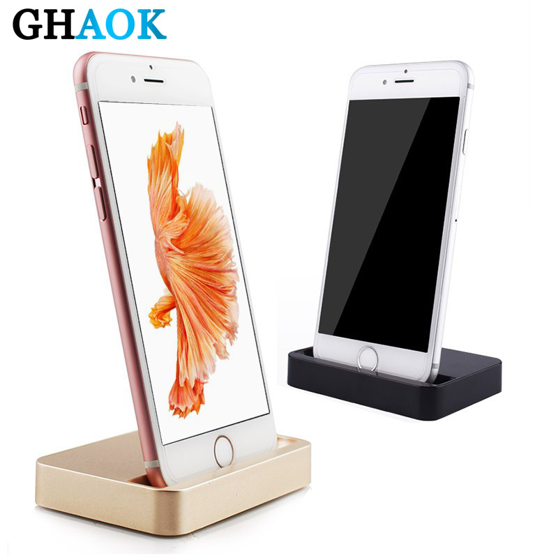 GHAOK Original Data Charging Sync Dock Station Desktop Docking Charger Dock For IPhone 11 X XR XS MAX 5 6 6S 7 8 Plus