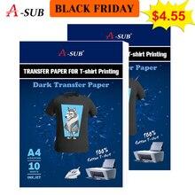 A3/A4 T shirt transferu papieru dla ciemny color100 % tkaniny bawełniane tkaniny do drukarek atramentowych drukowany Design