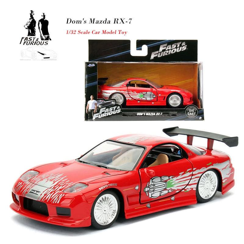 1/32 hızlı ve öfkeli arabalar Dom erkek Mazda RX-7 simülasyon Metal Diecast Model arabalar çocuk oyuncakları