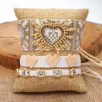 ZHONGVI Pulseras Mujer Moda 2020 MIYUKI Bracelets For Women 3D Heart Couple Bracelet Femme Crystal Jewelry Boho Chic Handmade