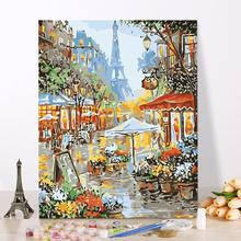40*50CM Fairyland Landscape DIY Painting By Numbers Kits Drawing Painting By Numbers Acrylic Paint On Canvas For Room Artwork tanie tanio Papier XXXX Unisex Rysunek zabawki zestaw 6 lat