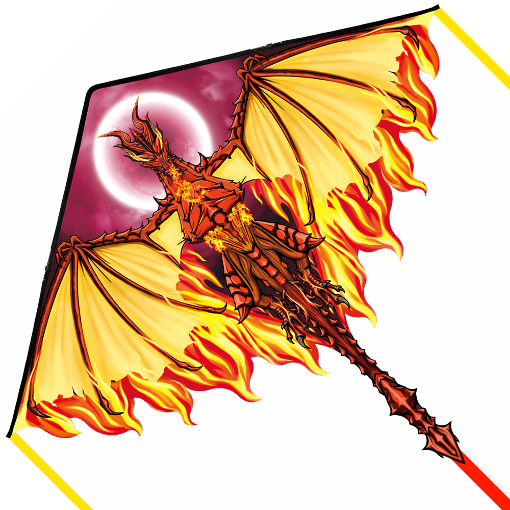 Mint's Colorful Life Dragon Kite for Kids Adults, Easy to Fly Best Delta Beach Kite, 300ft Kite String Included