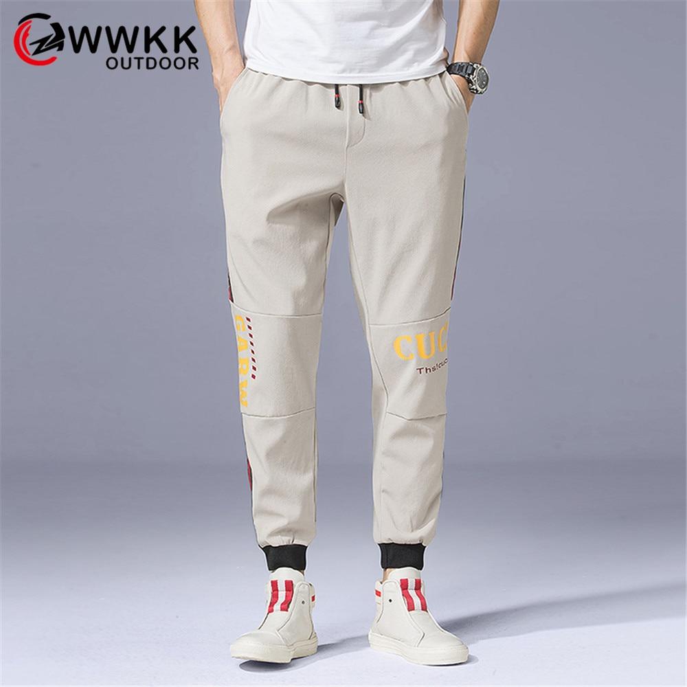 Мужские уличные брюки WWKK, непромокаемые ветрозащитные брюки со съемной дышащей версией, 2019