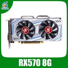 Veineda Video Card RX 570 8GB 256Bit GDDR5 1244/7000MHz Grap