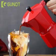 купить GUNOT Coffee Maker Aluminum Mocha Espresso Percolator Pot Coffee Maker Coffe Filter Italian Espresso Percolator Kitchen Tools по цене 726.21 рублей