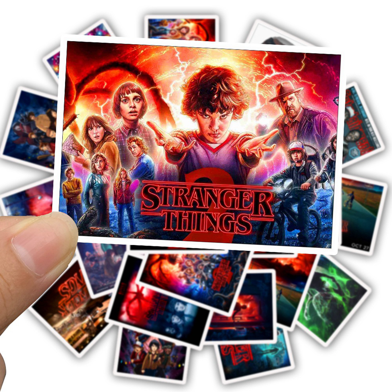 25pcs Pack Stranger Things Season 3 Stickers TV Movie Travel Luggage Skateboard Laptop Motorcycle Snowboard Guitar Stickers Toys