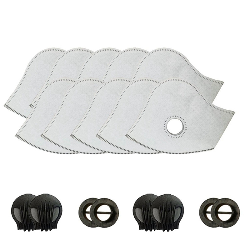 10pcs/lot Cycling Face Masks Filter MTB Road Cycling Equip Anti-Dust PM2.5 Replacement With Active Carbon Filter Protect