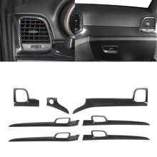 Centro Console Pannello Decorativo/Interno Maniglia Assetto per Jeep Grand Cherokee 2011-2020 Accessori Auto Interni In fibra di Carbonio