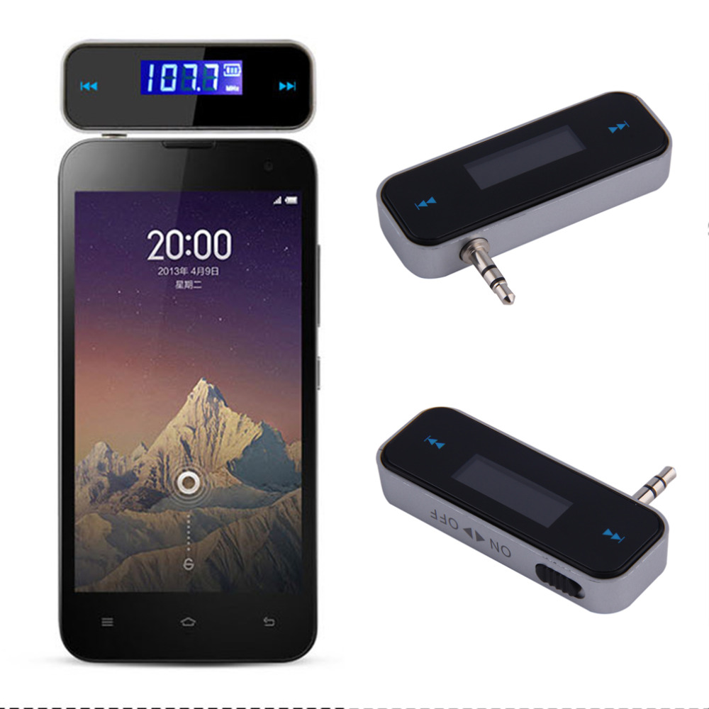 Universal 3.5mm Wireless Mini Car FM Transmitter Kit Music FM With USB Cable For IPod/iPad/iPhone 4 4S 5 5S 6 6S For Samsung