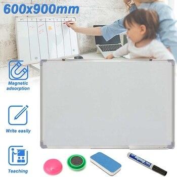 600x900MM Magnetische Trockenen Löscht Whiteboard Schreibtafel Doppel Seite Mit Stift Löschen Magneten Tasten Für Büro Schule