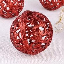 6 см Рождественская елка шар-безделушка подвесное украшение для домашней вечеринки Декор для дома Санта Клаус веселое Рождественское украшение для вечеринки