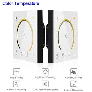 Image 3 - Interrupteur de contrôleur de lumière, nouvel interrupteur de panneau tactile, interrupteur de variateur de lumière, couleur unique/CT/RGB/RGBW, interrupteur mural en verre trempé