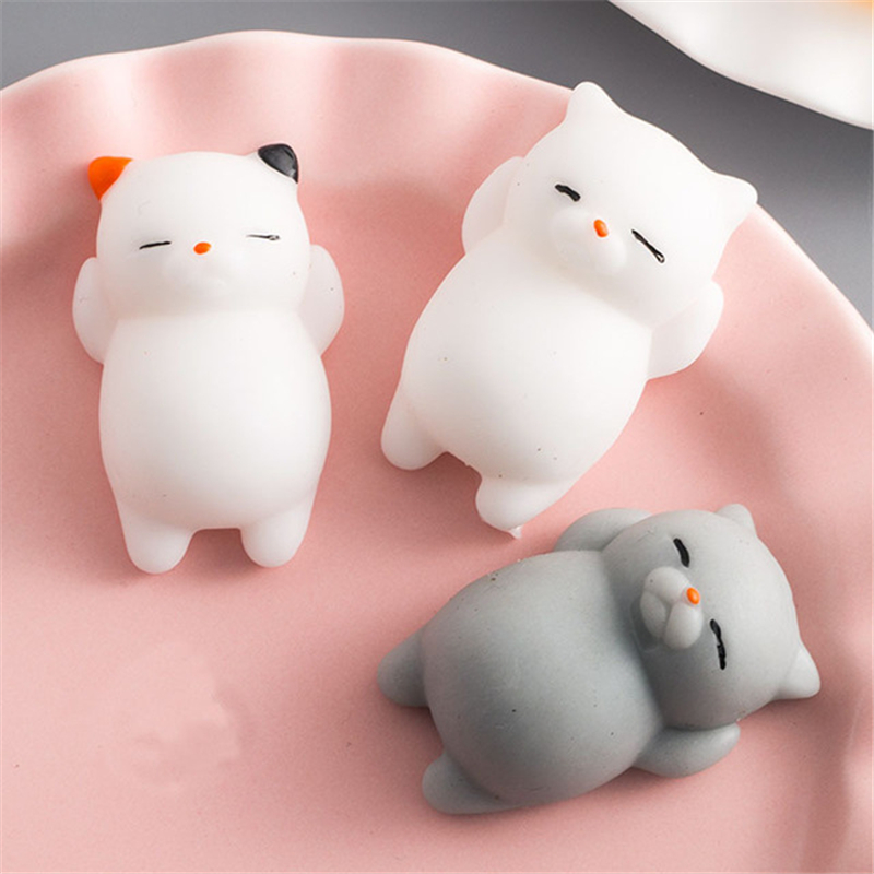 Mini Change Color Cute Cat Antistress Ball Squeeze Mochi Rising Abreact Soft Sticky Stress Relief Funny Toy Antistress