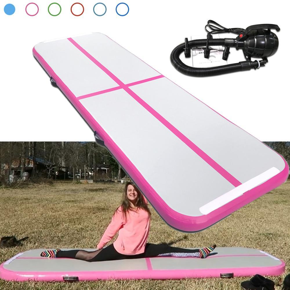 Inflatable Air Track Pad Floor Home Gym Gymnastics Training Tumbling Mat Track, Air Floor, Inflatable Mat Gymnastics