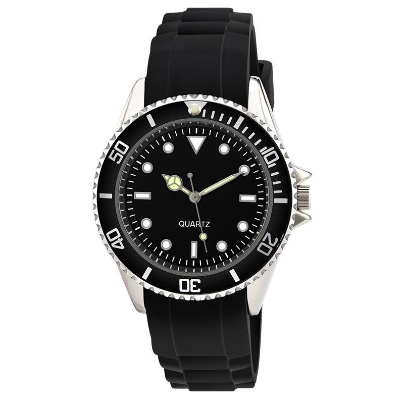 Fashion Men Watches Geneva Silicone Quartz Luxury Brand Analog Rubber Sports WristWatch Waterproof Clock Male Relogio Masculino